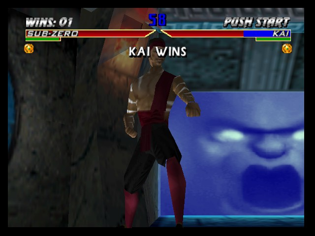 Mortal Kombat 4 - Battle  - Kai kills Sub-Zero - User Screenshot